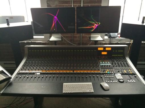 SSL Board at TBeats Studio
