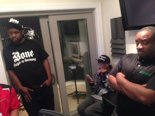 Tony, Bone Thugs and Harmony, and Souls of Liberty in Studio