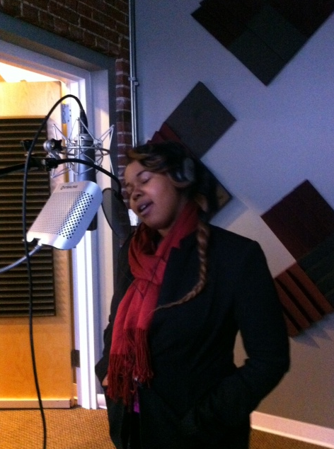 Brianna Singing in Downtown Studio
