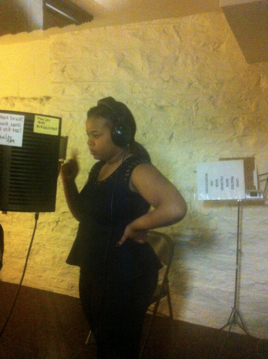 Brianna Practicing for New Song in West County Studio