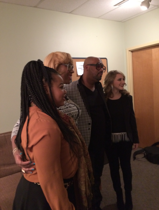 Backstage at The Kindred Family Soul Concert with Brianna and Annalyse