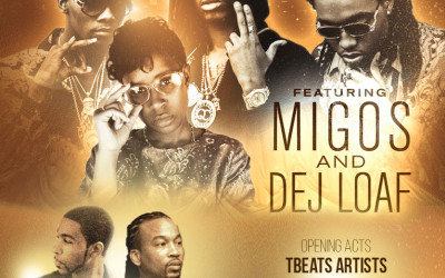 Dej Loaf and Migos Concert to feature Kingpin and Marty Griptite