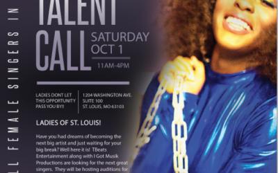 Singing Talent Call – October 8, 2016