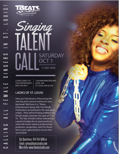 Singing Talent Call – October 8, 2016